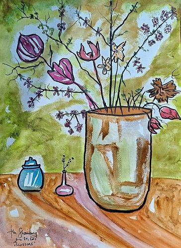 Blossoms.After Theresa Bernstein