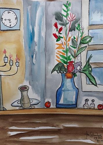 Blue Vase after Cezanne