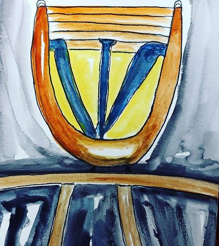 Shin Vase. Ancient Hebrew