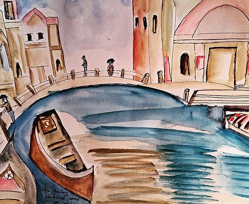 San Giuseppe, Venice. After John Singer Sargent