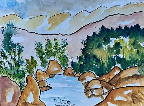 Serenity on the Rocks