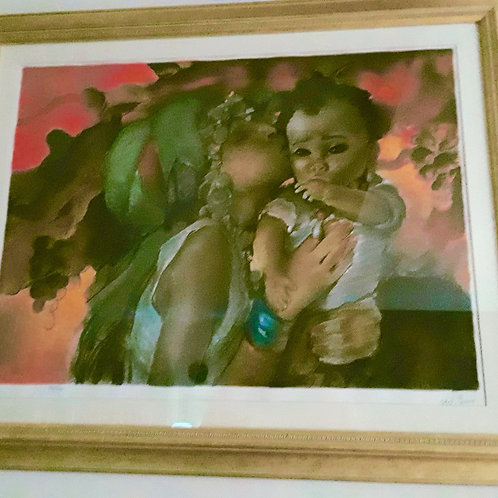Rebekkah & Jacob framed litho