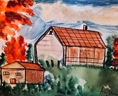 Red Trees and Barns
