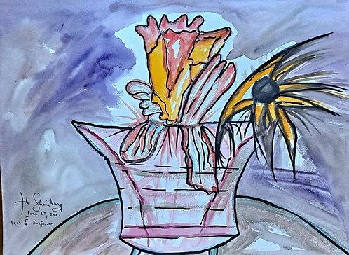 Iris and Sunflower