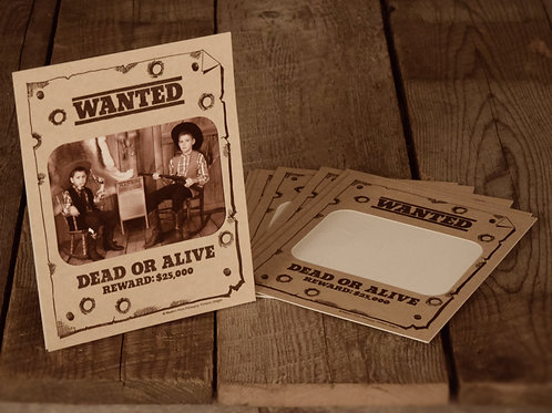 Wanted Dead or Alive Horizontal (5X7)