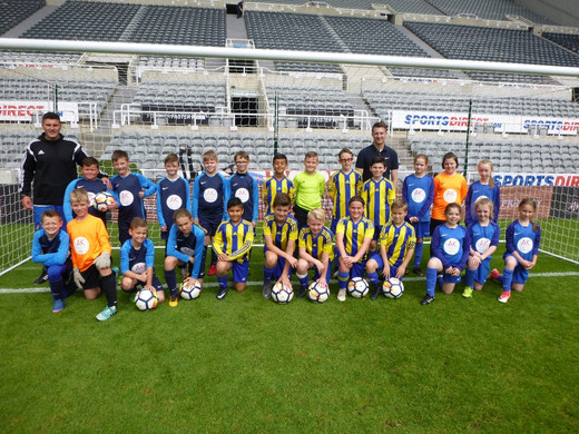 Playing at St James' Park