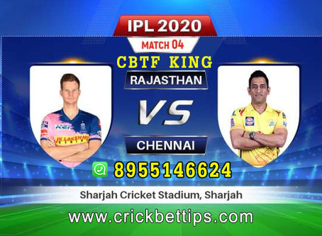 IPL 2020 - T20  LEAGUE - CHENNAI SUPER KINGS vs RAJASTHAN ROYALS