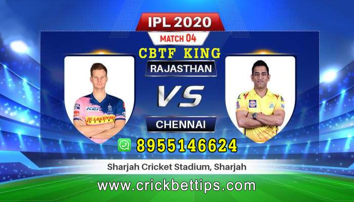 IPL 2020 - T20  LEAGUE - CHENNAI SUPER KINGS vs RAJASTHAN ROYALS