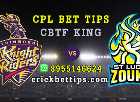 CPL T20 LEAGUE 2020 - TRINBAGO KNIGHT RIDERS VS ST LUCIA ZOUKS - CRICKET BET TIPS