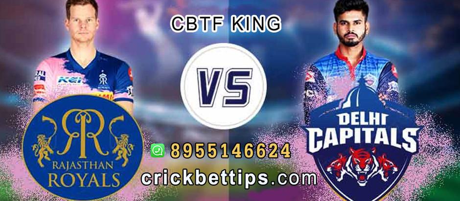 DELHI CAPITAL VS RAJASTHAN ROYALS - IPL 20 BET TIPS - TODAY IPL MATCH PREDICTION