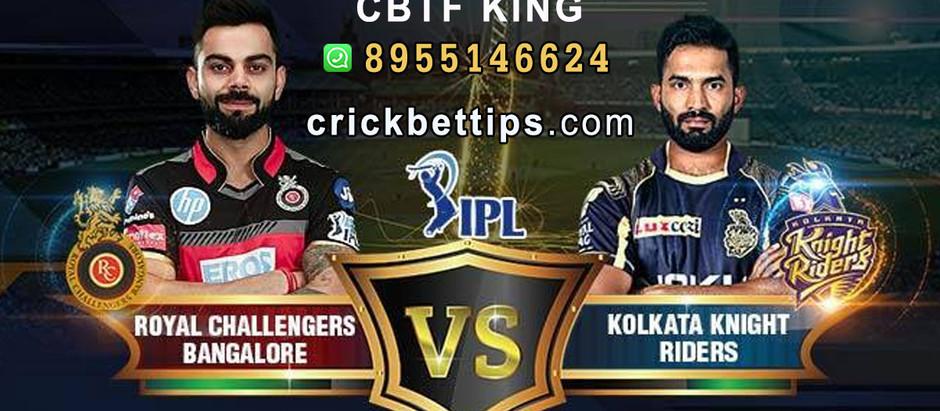 ROYAL CHALLANGERS BANAGLORE vs KOLKATA KNIGHT RIDERS - IPL BET TIPS - TODAY IPL MATCH PREDICTION