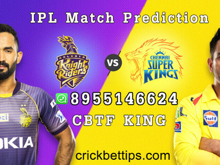 CHENNAI SUPER KINGS vs KOLKATA KNIGHT RIDERS - IPL BET TIPS - TODAY IPL MATCH PREDICTION