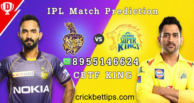 CHENNAI SUPER KINGS vs KOLKATA KNIGHT RIDERS - IPL BET TIPS - TODAY IPL MATCH PREDICTION