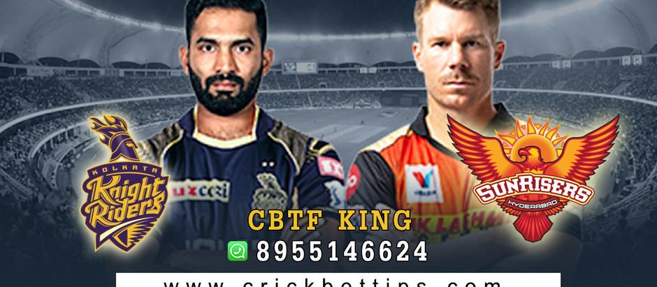 WINNER: KOLKATA KNIGHT RIDERS - KKR VS SRH - IPL Bet Tips by CBTF KING