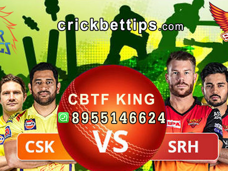 WHO WILL WIN TODAY - SRH VS CSK - TODAY IPL MATCH PREDICTION BY CBTF KING
