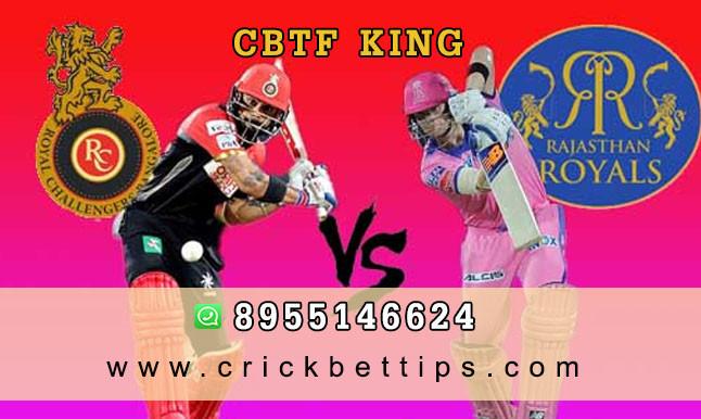 ROYAL CHALLANGERS BANGALORE vs RAJASTHAN ROYALS - IPL Bet Tips by CBTF KING