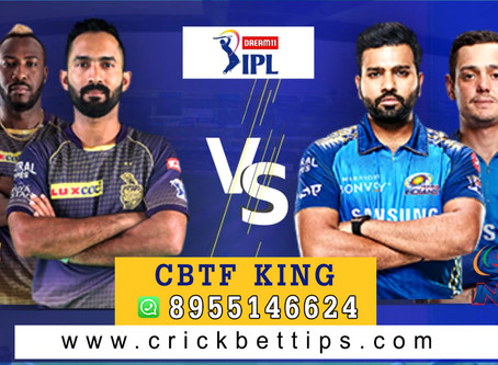 IPL T20 League 2020 - KKR vs MI - Cricket Bet Tips by CBTF KING
