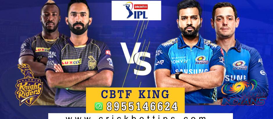 IPL T20 League 2020 - KKR vs MI - Cricket Bet Tips by CBTF KING