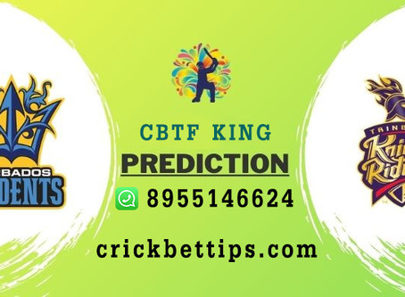 BARBADOS TRIDENTS vs TRINBAGO KNIGHT RIDERS - CPL20 - CRIC BET TIPS BY CBTF KING