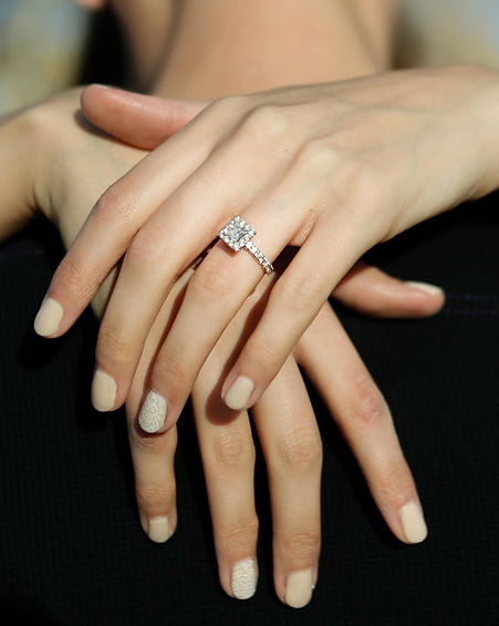 Wedding Ring on Brides Hand