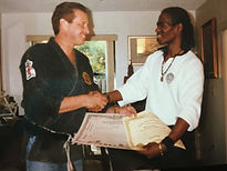1992 Richard Kahn awared black belt certificate #6