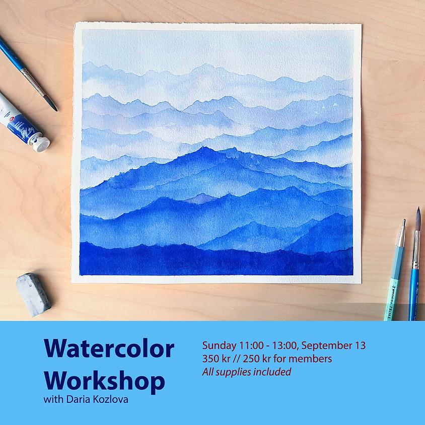 Watercolor Workshop: Misty Mountains