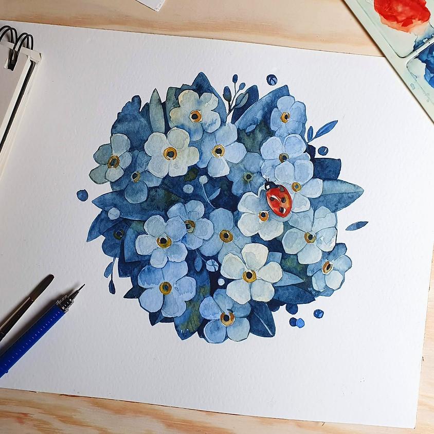 Watercolor Workshop: Negative Painting