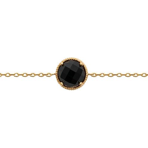 Bracelet Lise Agate Noire  - Ana & Cha