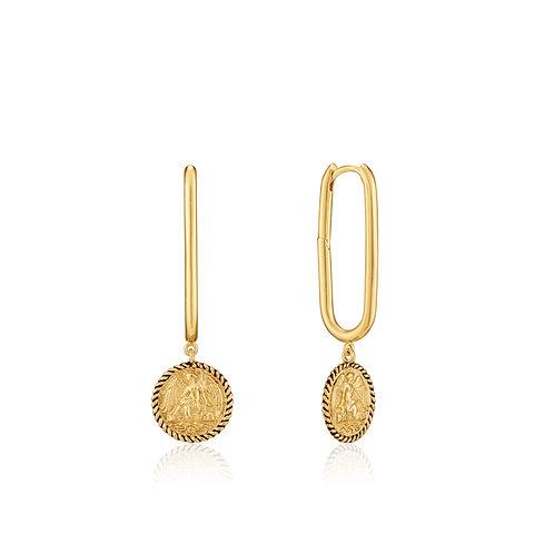 Gold Winged Goddess Hoop Earrings - Ania Haie