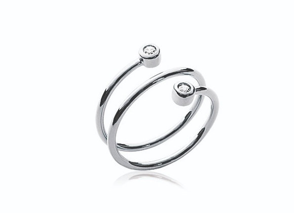 Bague Spirale Brillante
