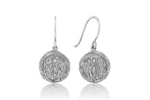 Silver Emblem Hook Earrings - Ania Haie