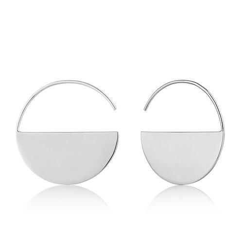 Silver Geometry Hoop Earrings - Ania Haie