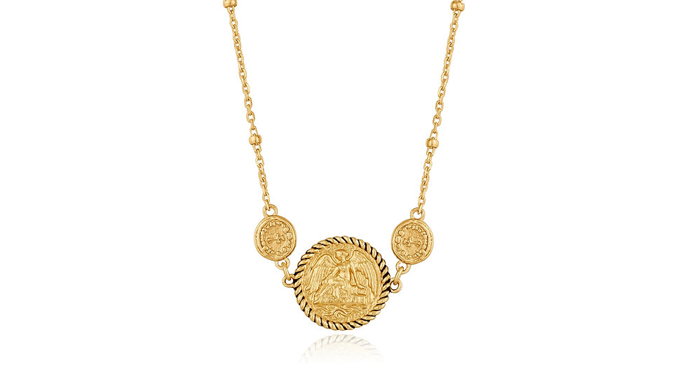 Gold Winged Goddess Necklace - Ania Haie