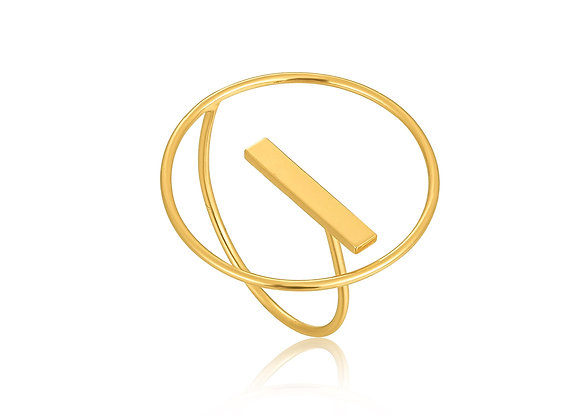 Gold Modern Circle Adjustable Ring - Ania Haie