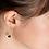 Thumbnail: Boucles d'Oreilles Elise Agate Noire - Ana & Cha