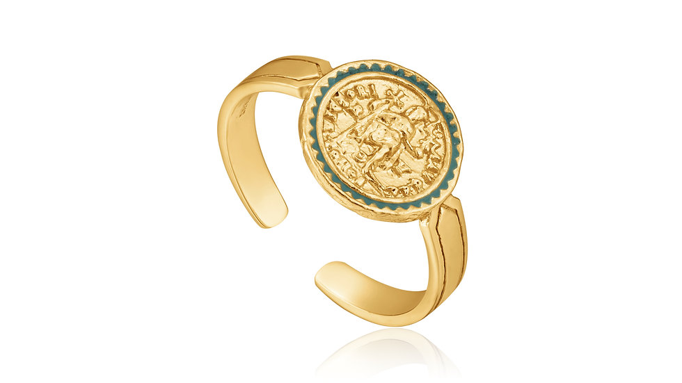 Gold Emperor Adjustable Ring - Ania Haie