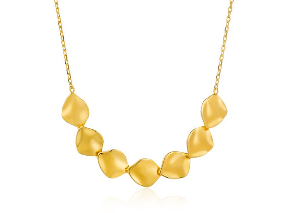 Gold Crush Multiple Discs Necklace - Ania Haie