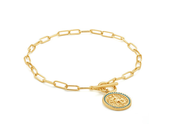 Gold Emperor T-bar Bracelet - Ania Haie