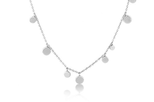Silver Geometry Mixed Discs Necklace - Ania Haie