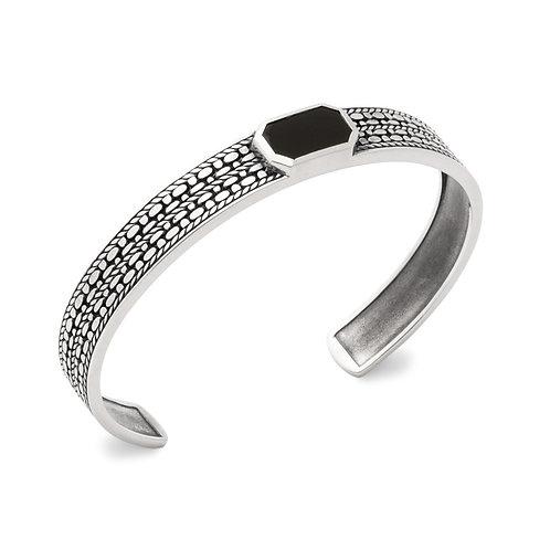 Bracelet Jonc Agate Noire