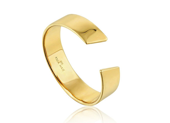 Gold Geometry Wide Adjustable Ring - Ania Haie