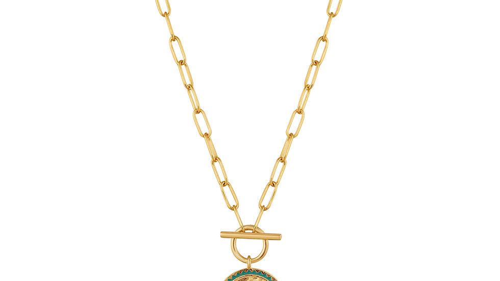 Gold Emperor T-bar Nekclace - Ania Haie