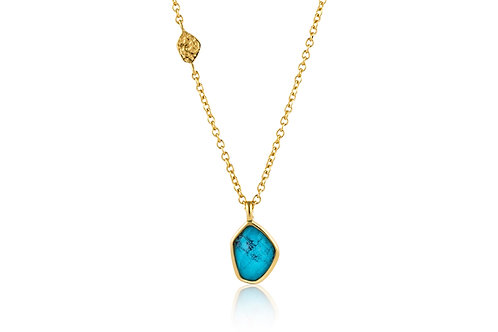 Turquoise Pendant Gold Necklace - Ania Haie