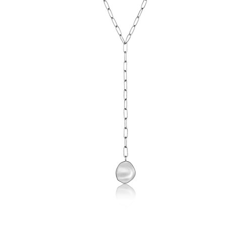 Silver Crush Disc Y Necklace - Ania Haie