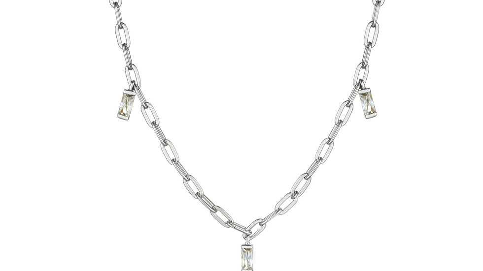 Silver Glow Drop Necklace - Ania Haie