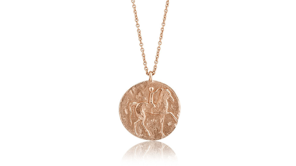 Rose Gold Roman Rider Necklace - Ania Haie