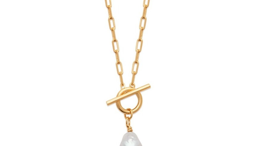 Collier T-Bar Pearl