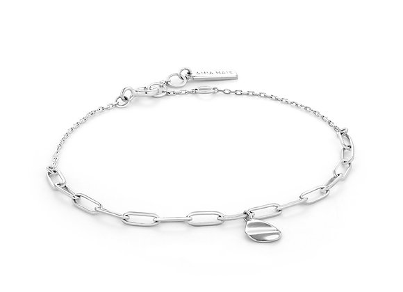 Silver Crush Drop Disc Bracelet - Ania Haie