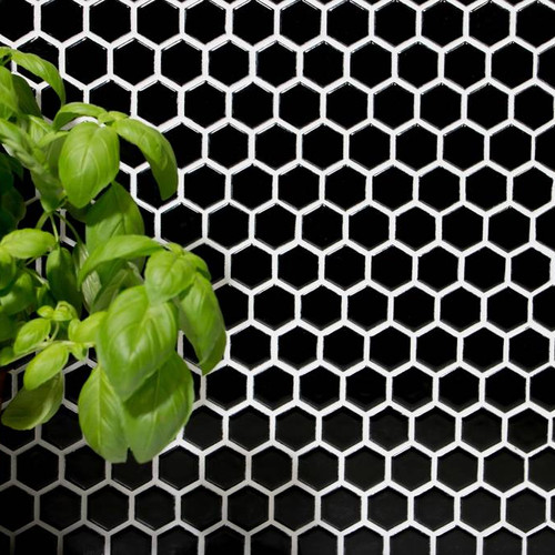 HX060_Trend_Hexagon_uni_schwarz_glänzend