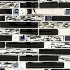 Mozaik XCMGV878 Avantgarde Interlock Crystal/Steel mix black glass/glass 298x338